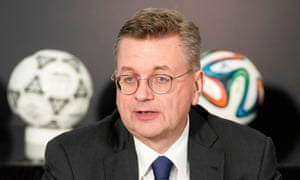 Reinhard Grindel tenure as DFB president is the shortest in the 114 years of the federation