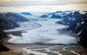Nuuk, Greenland: A view of the melting Sermeq glacier