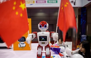 A robot at the China Hi-Tech Fair (CHTF) in Shenzhen, Guangdong Province, China, this month