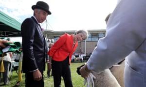Theresa May visits the Royal Welsh Show in Llanelwedd, Wales,