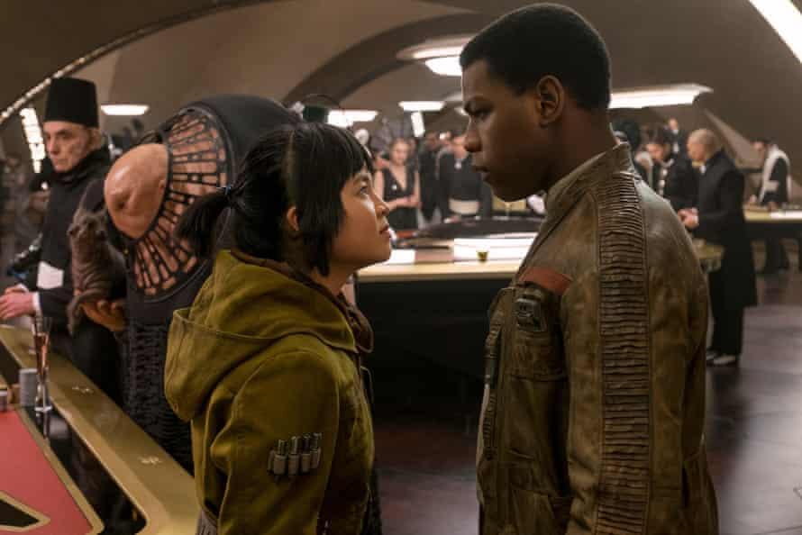 Winning formula: Kelly Marie Tran and John Boyega in Star Wars: The Last Jedi.