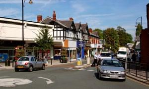 Bramhall Lane South shopping precinct, Stockport.
