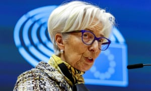 ECB president Christine Lagarde attends a plenary session at the European Parliament in Brussels in February.