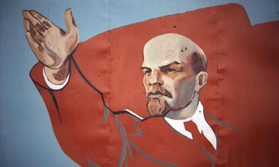 Passion for the classics … a mural of Vladimir Lenin.