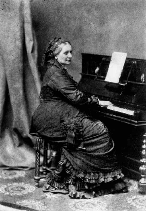 Hers was beautiful and fascinating music … Clara Schumann at the piano, circa 1870.