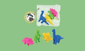Dinosaur erasers, £2.95/set of four, rexlondon.com