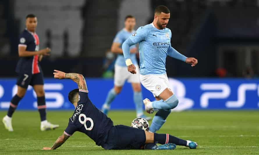Kyle Walker went on one tremendous run into PSG's penalty area which summed up Manchester City's change of attitude after half-time.