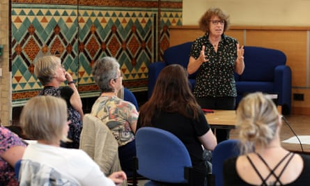 Dr Lynne Jones leading the workshop at the St Charles Centre for Health and Wellbeing.