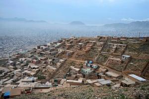 Kabul, Afghanistan is seen from the top of Khair Khan hillside