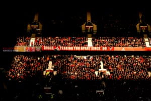 A general internal view of Old Trafford as Manchester United fight back to beat Newcastle United 3-2.