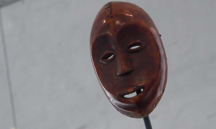 An ivory mask dated to the 19th century, one of up to 2,000 stolen works identified by the Africa Museum as having been seized during Belgium's rule of a swathe of central Africa.