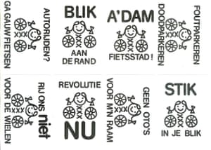 Stickers from Amsterdam Fietst 1976