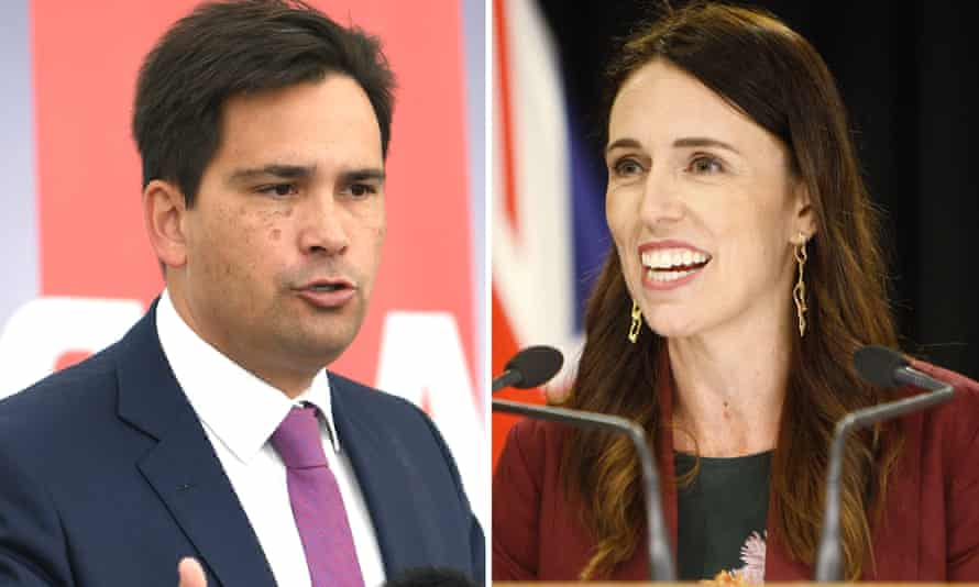 Simon Bridges, the New Zealand National party leader, and Jacinda Ardern, the Labour prime minister.