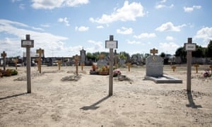 The Muslim section of Cimetiere Nord, where refugees are buried in Calais, France.