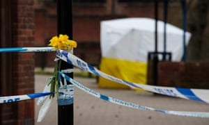 The scene connected to the Sergei Skripal nerve agent attack in Salisbury, UK.