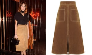 Alexa Chung and the infamous suede skirt.