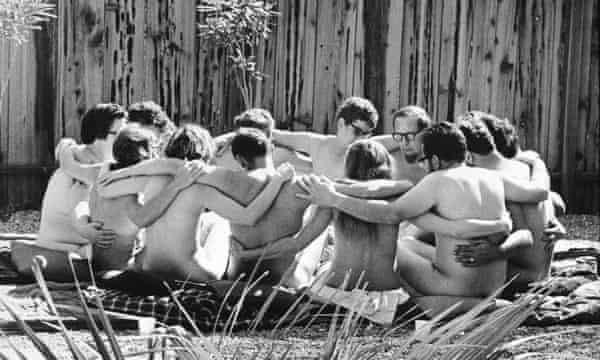 A therapy session at the Esalen Institute, California, 1968.
