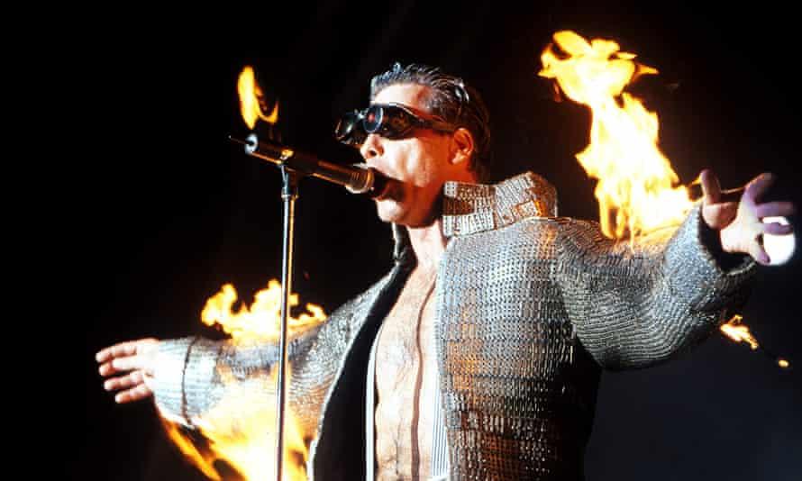 'Qualified pyrotechnician' ... Till Lindemann of Rammstein.