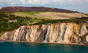 the coloured cliffs of Alum Bay
