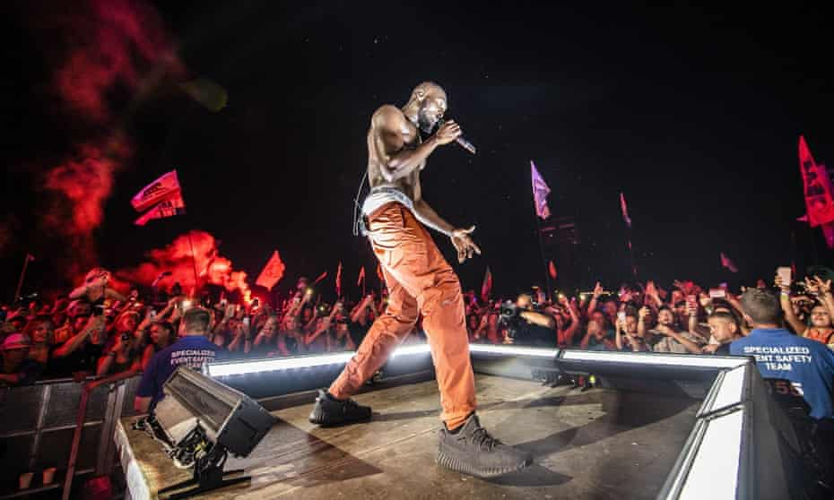 Stage presence: Stormzy takes Glasto. But how did his trousers stay up?