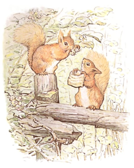 An illustration from Potter's The Tale of Squirrel Nutkin.