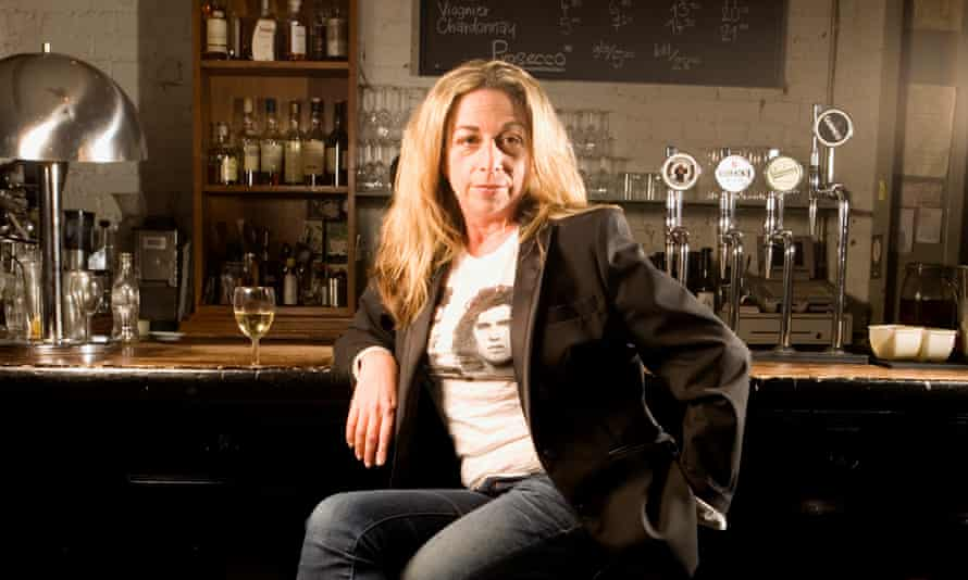 Monique Roffey photographed at the Chamberlayne bar in Kensal Rise, north London.