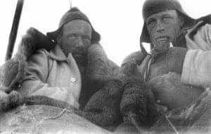 Wild & Watson in sleeping bag tent on sledge journey