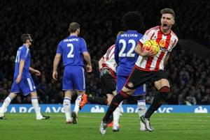 Sunderland's Fabio Borini celebrates after pulling a goal back for the visitors.
