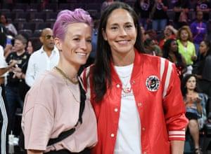 Megan Rapinoe with her girlfriend, Sue Bird.