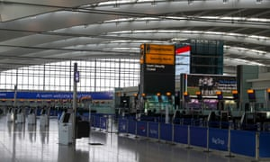 The empty concourse at Heathrow's Terminal 5.