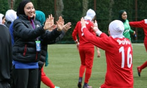 Kat Khosrowyar, left, has set her sights on helping Iran's women to the 2022 Olympics