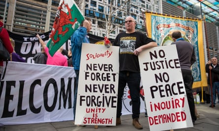 Protesters gathered outside the Home Office in March last year to call for an inquiry into police conduct at Orgreave.
