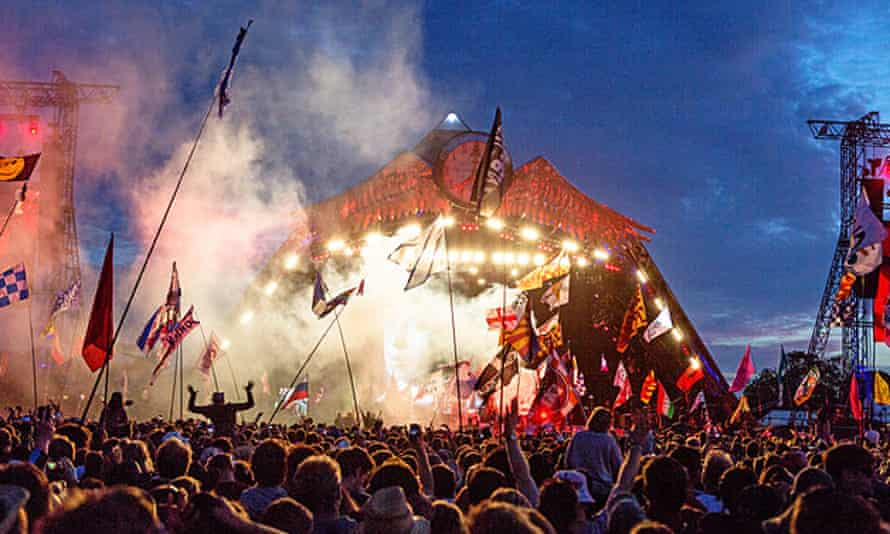 The Who on the Pyramid stage at Glastonbury.