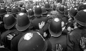 The Observer reported that 4,000 police, about a quarter of the Metropolitan police's manpower, had been called in to cope with any trouble
