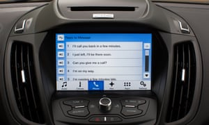 The new infotainment system in the new 2016 Ford Escape