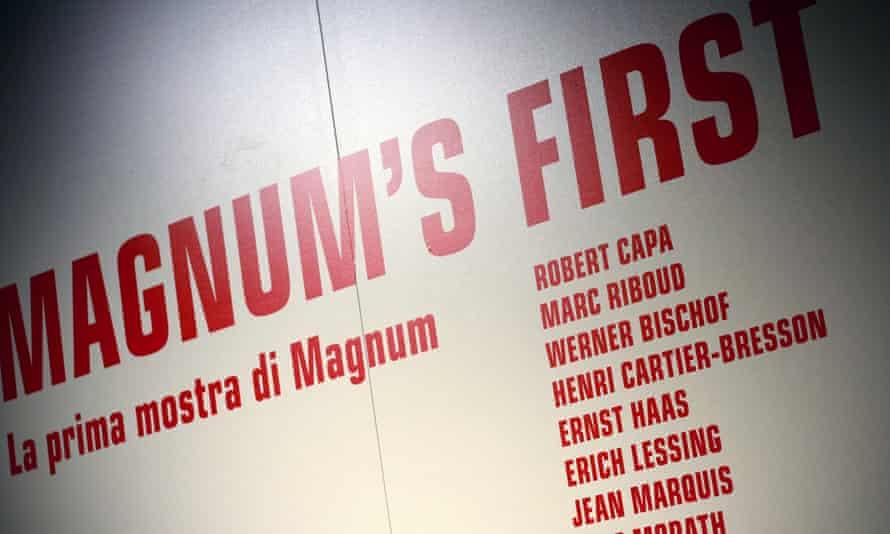 A Magnum photo exhibition in Milan last year