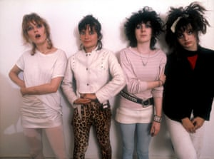 a press shot of the slits standing against a white background in the late 1970s
