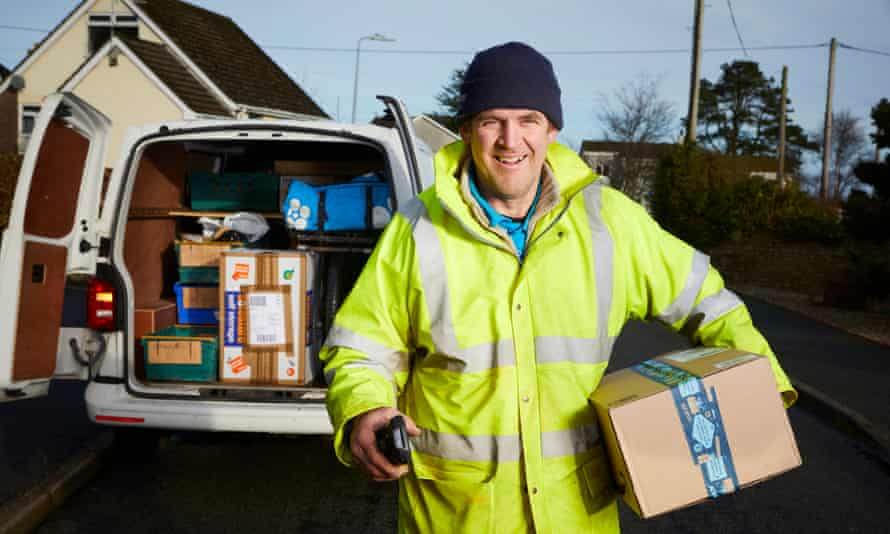 Patrick Whetman, who works as a delivery courier for Hermes in north Wales