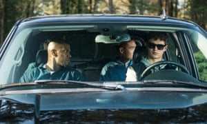 Jamie Foxx, Lanny Joon and Ansel Elgort in Edgar Wright's Baby Driver