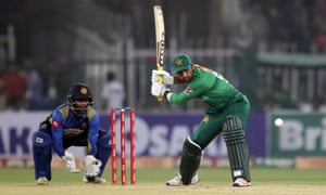 Pakistan captain Sarfraz Ahmed batting during a T20 against Sri Lanka in Lahore last month.