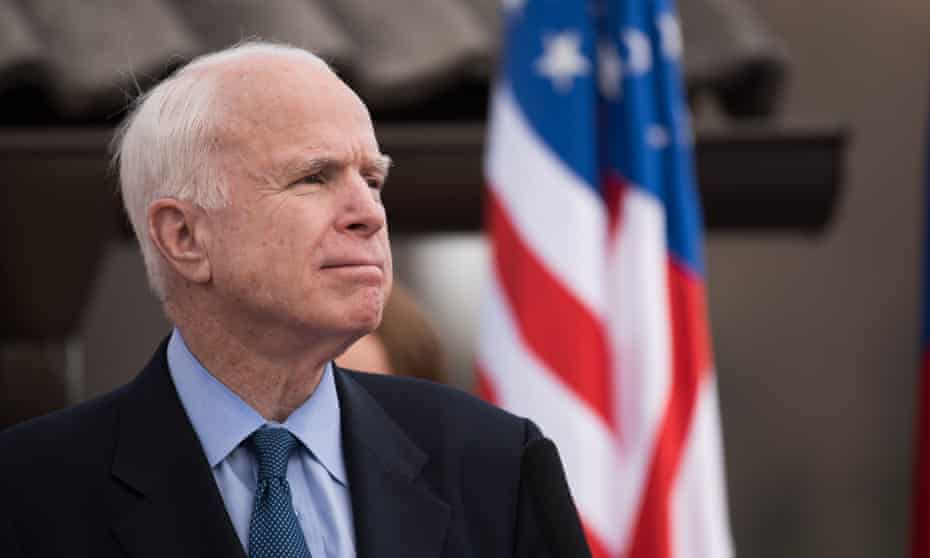 """""""With (McCain's) death, the last shreds of conscience in his party have gone, though they were often only present in him in flickers of conflicted, contradicted impulses."""""""