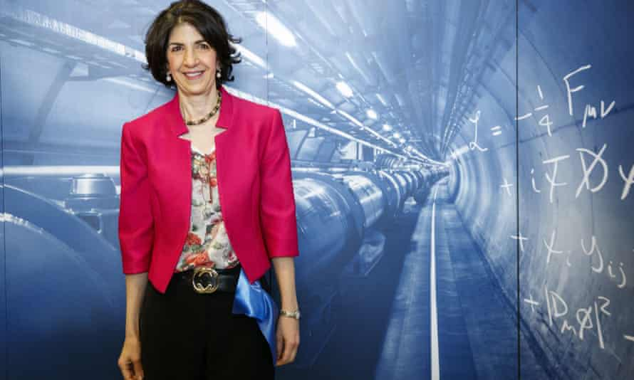 Director general of Cern, Fabiola Gianotti, at the inauguration of the LINAC 4 linear accelerator, in Meyrin near Geneva, Switzerland, 9 May 2017.