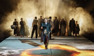 Daniel York as Len Gooch and the Community Ensemble in The Shadow Factory by Howard Brenton.