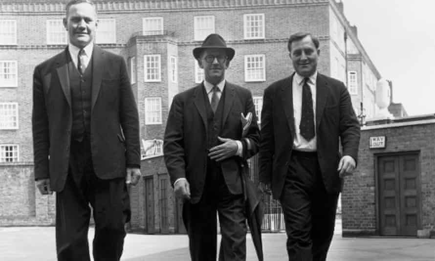Three England cricket Test selectors in 1962. From left: Alec Bedser, Walter Robins and Doug Insole.