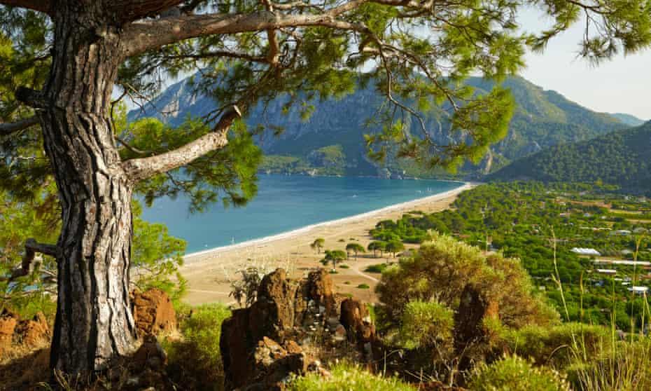 Beach at Mediterranean sea. Cirali, Turkey