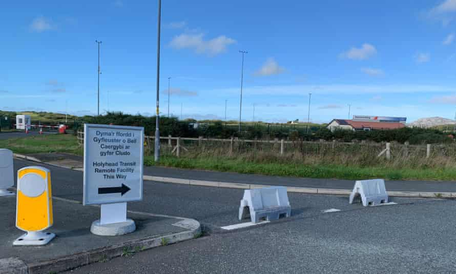 Work has yet to begin on the Holyhead Brexit border control post at Parc Cybi in Anglesey, Wales.