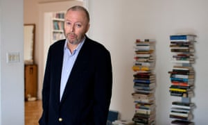 Christopher Hitchens, soon after his cancer diagnosis, at home in Washington, DC.