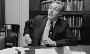 Tony Benn during a press conference in 1971