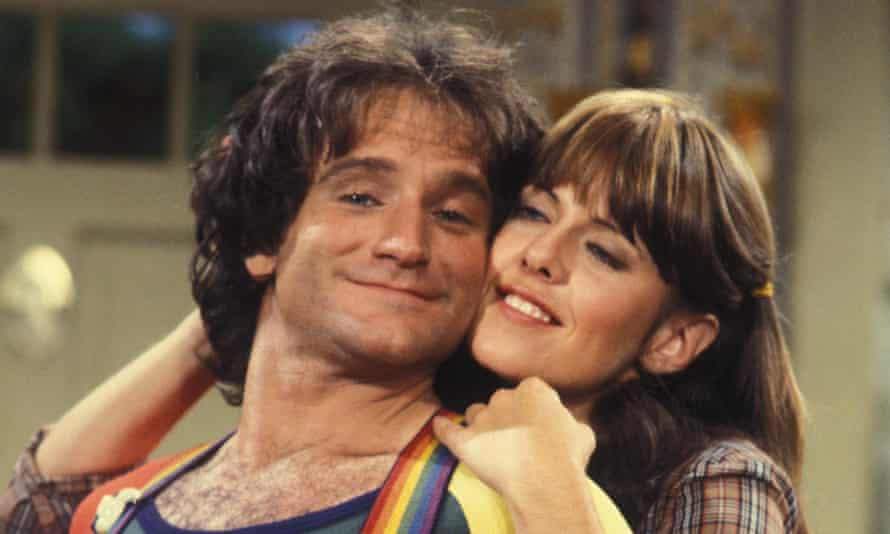 Robin Williams and Pam Dawber in Mork and Mindy.