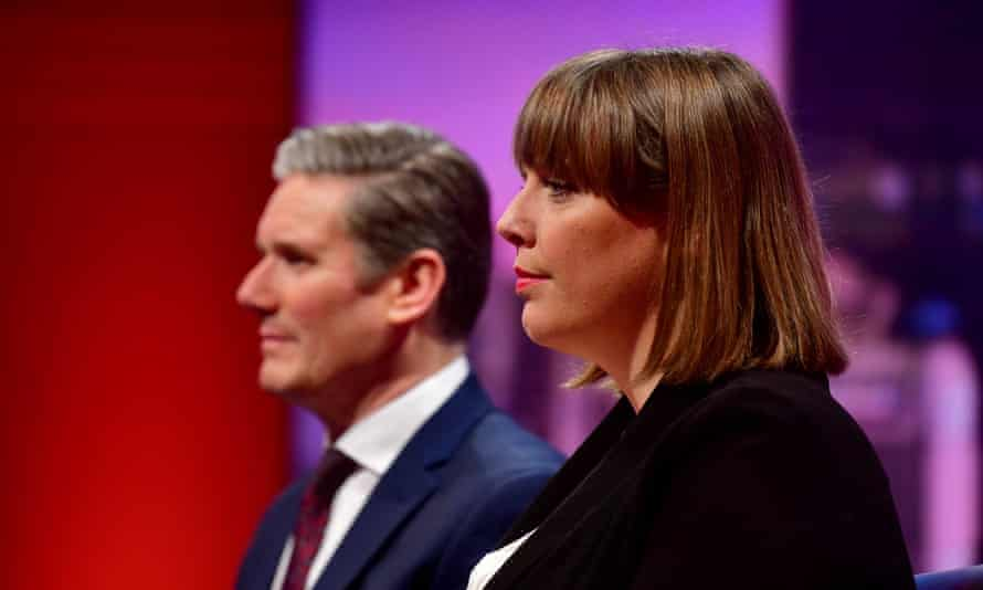 Jess Phillips and Keir Starmer on the BBC's Andrew Marr Show. 'For lots of people, I don't look like any prime minister that has ever existed. I get that,' she says, but says it is time for Labour's next leader to be a woman.
